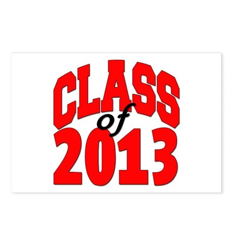 Class of 2013 (red) Postcards (Package of 8)