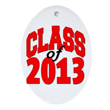Class of 2013 (red) Ornament (Oval)