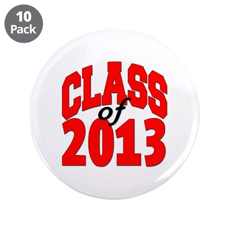 """Class of 2013 (red) 3.5"""" Button (10 pack)"""