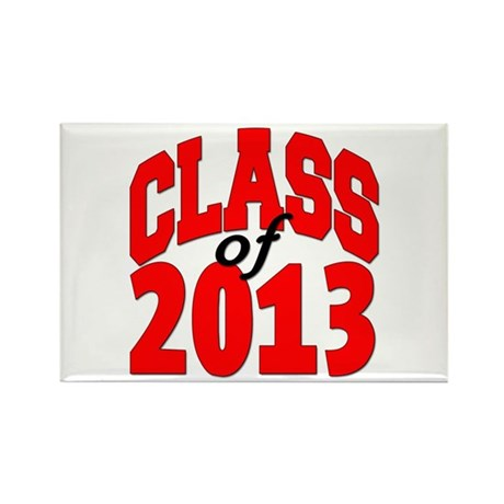 Class of 2013 (red) Rectangle Magnet