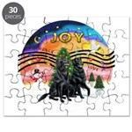 XMusic2-Two Flat Coated Retr. Puzzle