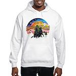 XMusic2-Two Flat Coated Retr. Hooded Sweatshirt