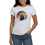 XMusic2-Two Flat Coated Retr. Women's T-Shirt
