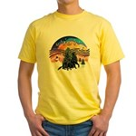 XMusic2-Two Flat Coated Retr. Yellow T-Shirt