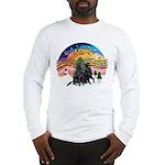 XMusic2-Two Flat Coated Retr. Long Sleeve T-Shirt