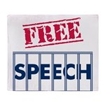 Free Speech Throw Blanket