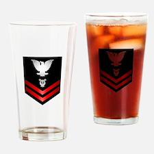 Navy PO2 Musician Drinking Glass