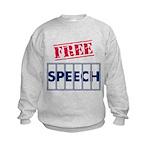 Free Speech Kids Sweatshirt