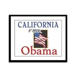 California for Obama Framed Panel Print