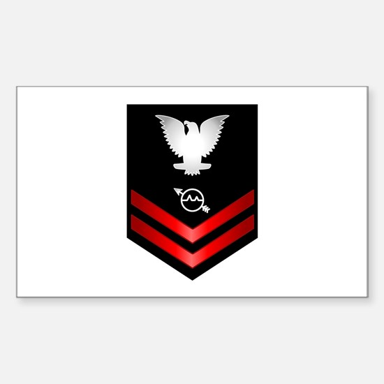 Navy PO2 Operations Specialist Sticker (Rectangle)