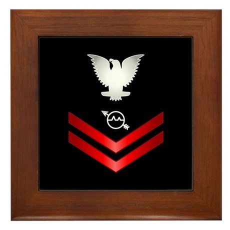 Navy PO2 Operations Specialist Framed Tile