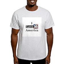 I Love America Ash Grey T-Shirt