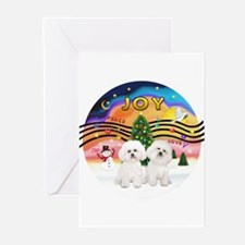 XMusic2 - Two Bichon Greeting Cards (Pk of 20)