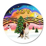 XMusic2 - Beagle Round Car Magnet