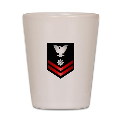 Navy PO2 Quartermaster Shot Glass