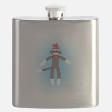 Awesome Sock Monkey Flask