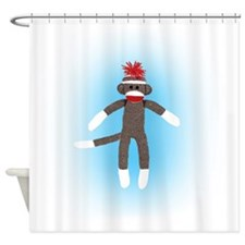 Awesome Sock Monkey Shower Curtain