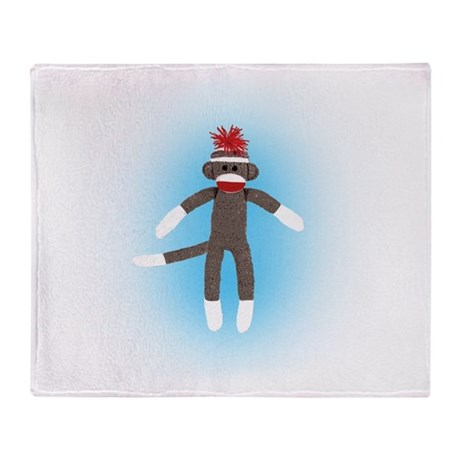 Awesome Sock Monkey Throw Blanket