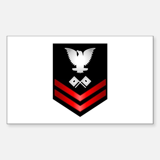 Navy PO2 Signalman Sticker (Rectangle)