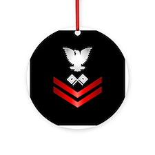 Navy PO2 Signalman Ornament (Round)
