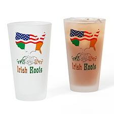 American Irish Roots Drinking Glass