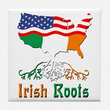American Irish Roots Tile Coaster
