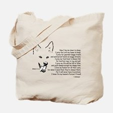 Now I Lay Me Down To Sleep Paws4Critters Dog Tote