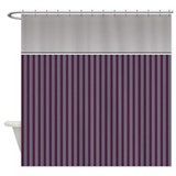 Purple stripe Shower Curtains