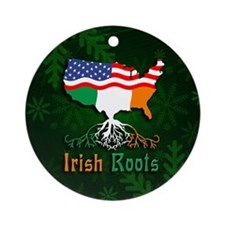 Irish American Roots Christmas Ornament (Round)