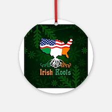 Irish American Roots Christmas Ornament (Round)