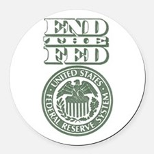 End The Fed Round Car Magnet
