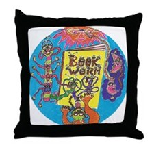 Book Worm Throw Pillow