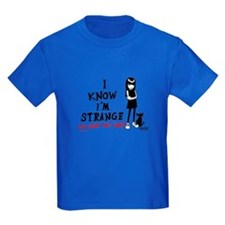 I Know I'm Strange Kids Dark T-Shirt