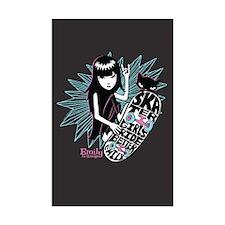 Skater Girl Mini Poster Print