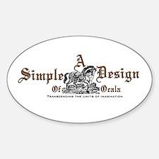 A Simple Design of Ocala Gear Sticker (Oval)