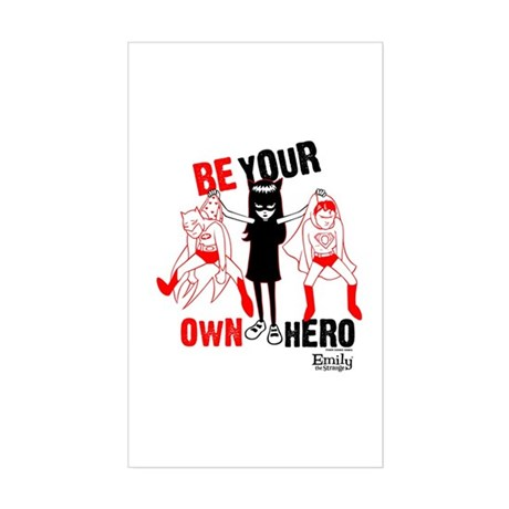 Be Your Own Hero Sticker (Rectangle)