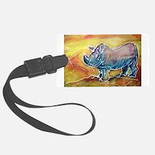 Rhinoceros! wildlife art! Luggage Tag