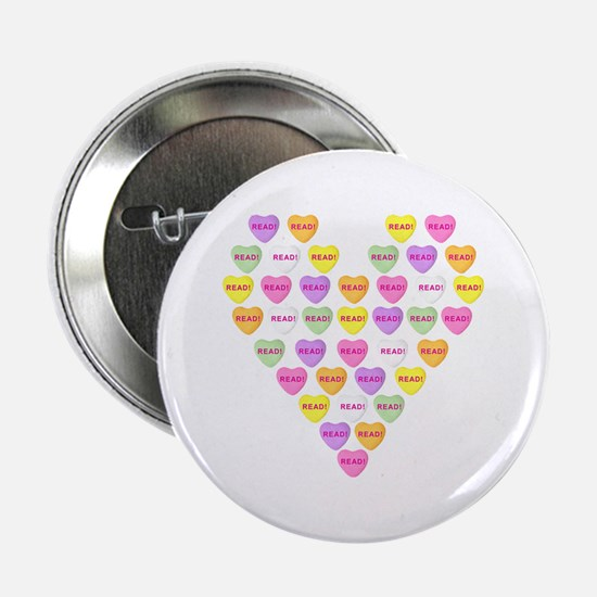 """Candy Hearts 2.25"""" Button"""