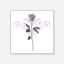"Vintage Lilac Rose Square Sticker 3"" x 3"""