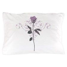 Vintage Lilac Rose Pillow Case