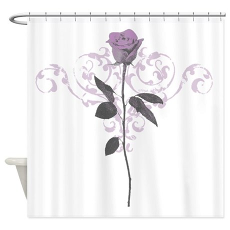 Vintage Lilac Rose Shower Curtain