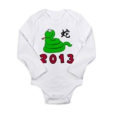 Funny Chinese Zodiac Snake 2013 Long Sleeve Infant