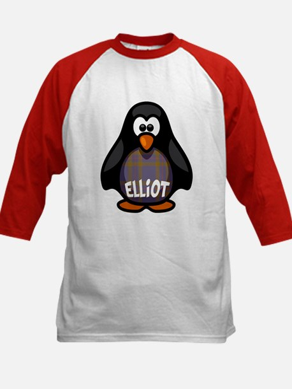 Elliot Tartan Penguin Kids Baseball Jersey