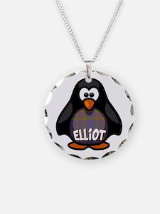 Elliot Tartan Penguin Necklace