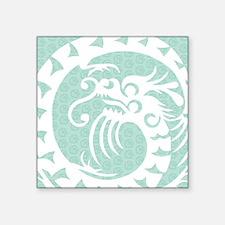 "Chinese Dragon Square Sticker 3"" x 3"""
