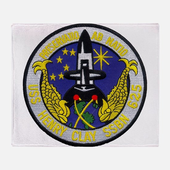 USS HENRY CLAY Throw Blanket