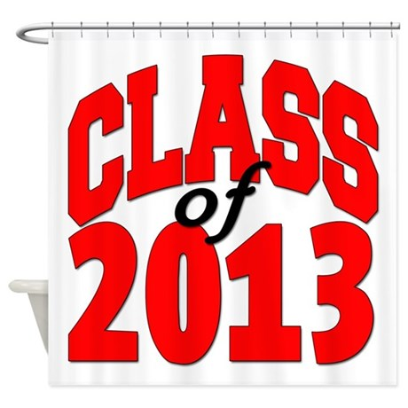 Class of 2013 (red) Shower Curtain