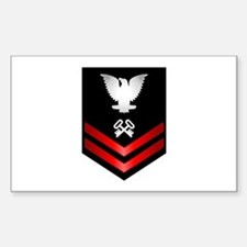 Navy PO2 Storekeeper Sticker (Rectangle)