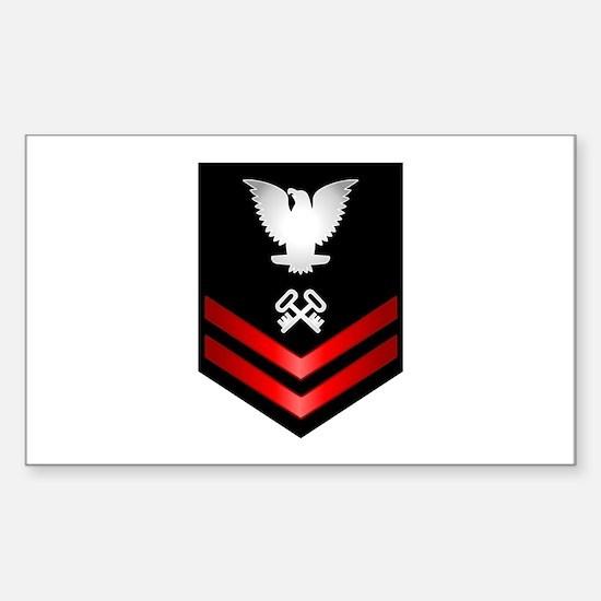 Navy PO2 Storekeeper Sticker (Rectangle)