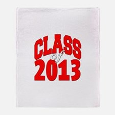 Class of 2013 (red2) Throw Blanket